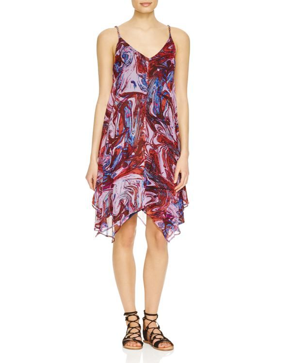 Ella Moss Marble Print Silk Dress