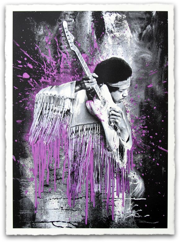 Mr. Brainwash - Jimi Purple Hze Variant - Signed