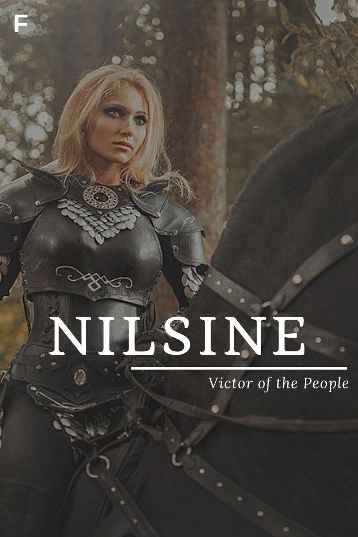 Nilsine, wat Victor van het Volk betekent, Zweedse namen, N baby meisjesnamen, N baby …