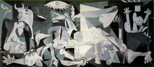 Painted in 1937 by #Pablo #Picasso, Guernica was created in response to the bombing of Guernica, a Basque Country village in northern Spain by German and Italianwarplanes at the behest of the Spanish Nationalist forces, on 26 April 1937, during the Spanish Civil War. Arguably Picasso's most famous painting, Guernica stands as a reminder of the tragedies of war, an anti-war symbol, and an embodiment of peace.#art #activism