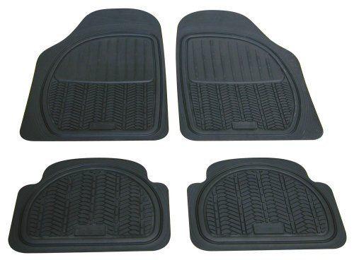 Michelin 009070 4 Tapis Caoutchouc à Sillons: 4 tapis caoutchouc noir de type gomme de pneus. Equipement complet avant et arrière du…
