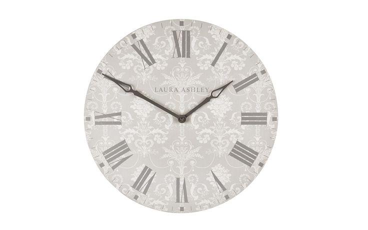 Laura Ashley Josette Dove Grey Wall Clock