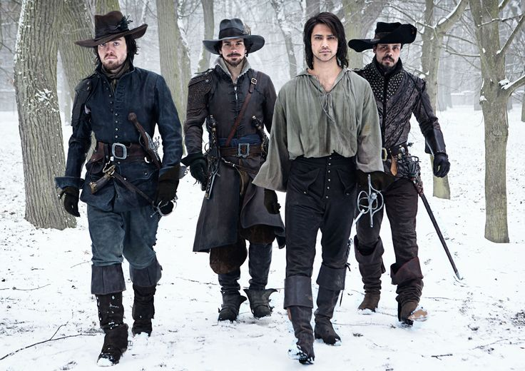 BBC AMERICA has released the very first photos for The Musketeers, their new 10-part action drama set for 2014. Luke Pasqualino (Skins, The Borgias) stars as D'Artagnan, with Tom Burke (The Hour) as Athos, Santiago Cabrera (Heroes/Merlin) as Aramis, and Howard Charles as Porthos. (Photo: BBC AMERICA)