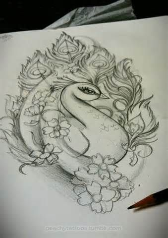 peacock tattoo - That would be stunning with the right colors! -- I don't think I'd want this as a tattoo, rather I think it would look great as a wall hanging with exquisite colors and some gold foiling accents