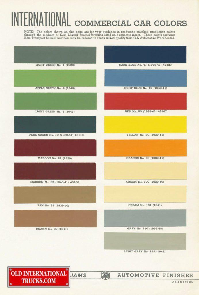 Dupont Car Paint Color Chart - The Espo Magazine