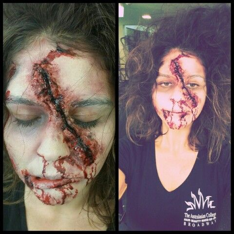 Zombie sfx makeup