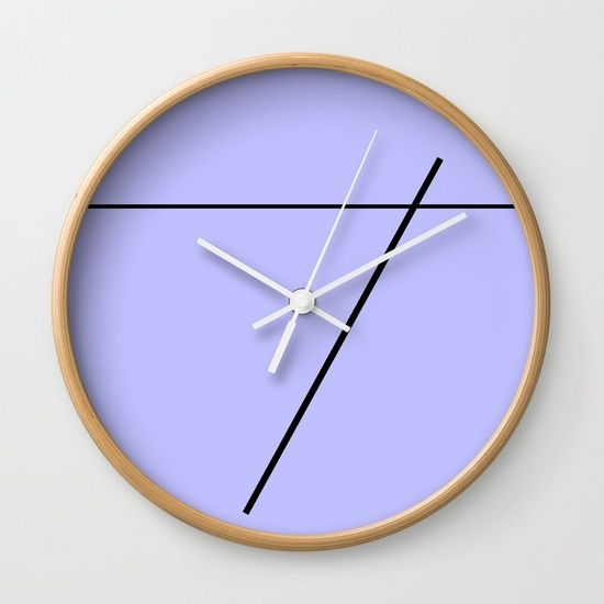Blue Sky Lines Wall Clock by Bravely Optimistic | Society6