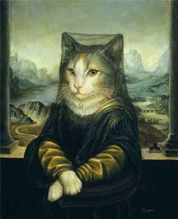by Melinda Copper...#cat....#Mona Lisa