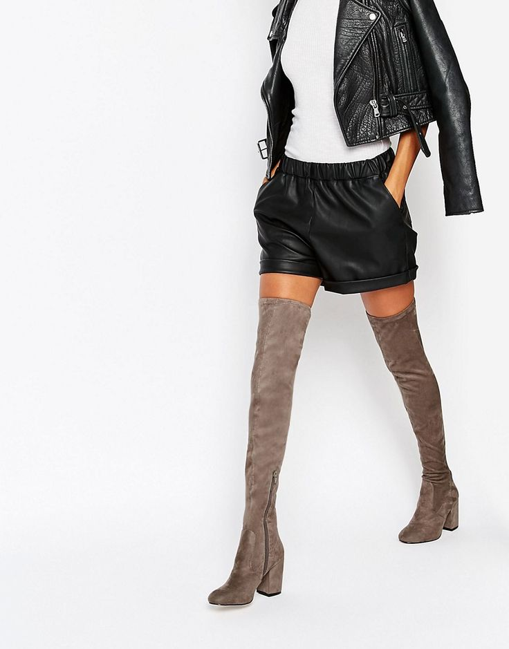 Image 1 of ASOS KATCH UP Heeled Over The Knee Boots