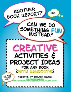 Creative activities & project ideas...especially when students dread writing (and teachers dread reading) reports. 80+ ideas; includes handouts & links. $priced: Teaching Resources, Short Stories, Creative Activities, Schools Stuff, Shorts Stories, Projects Ideas, Book Reports, Novels, Project Ideas