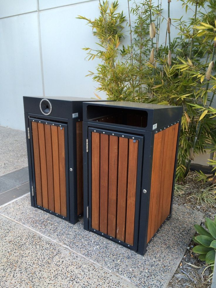 Avenue Litter and recycling bin enclosures for Kwong Sang Walk in Toowoomba, QLD