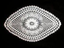 White crochet doily - 52 X 33 cm
