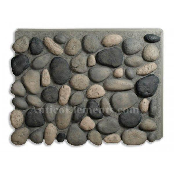 faux stone panels | Brook River Rock Faux Rock Panels - Boulder Gray