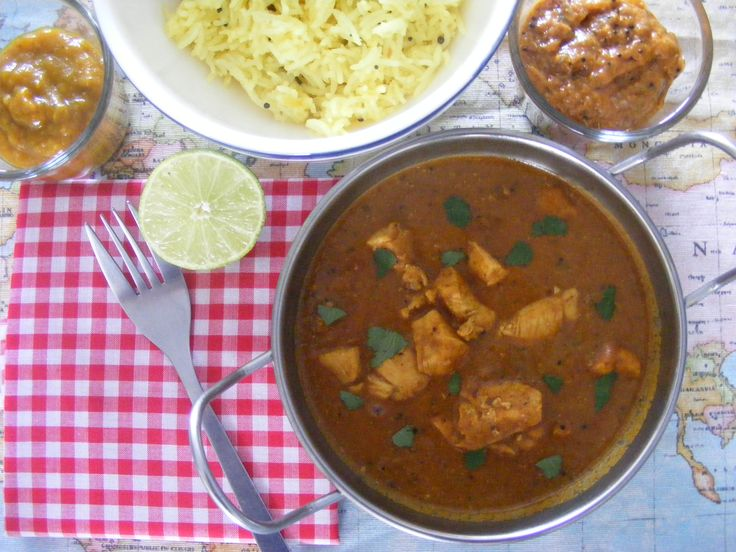 Keralan curry with lemon rice