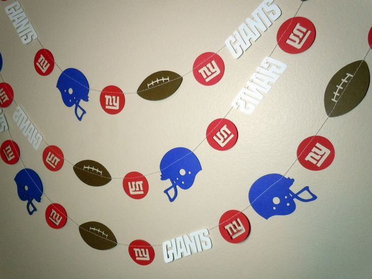 New York Giants Paper Garland. $10.00, via Etsy.