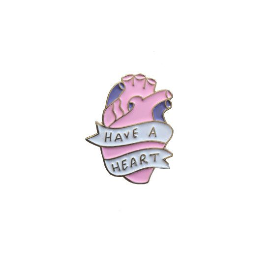 Have A Heart Pin Commandments Enamel Pin | Veronica Dearly Illustration