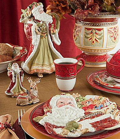 Fitz and Floyd Damask Holiday Dinnerware #Dillards