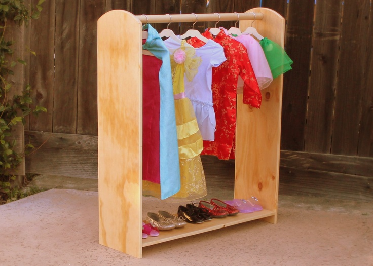 kids dress up stand with shoe rack custom colors available via etsy learning. Black Bedroom Furniture Sets. Home Design Ideas