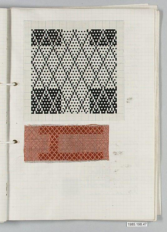 motif textile : Gertrud Preiswerk, femmes artistes suisse, archives du Bauhaus, papier millimétré