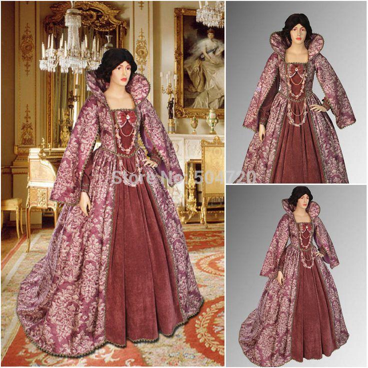 Freeshipping! Vintage r-913 kostuums 1860s burgeroorlog cape jurk/renaissance gothic lolita jurk jurk halloween jurk alle maten €144,20