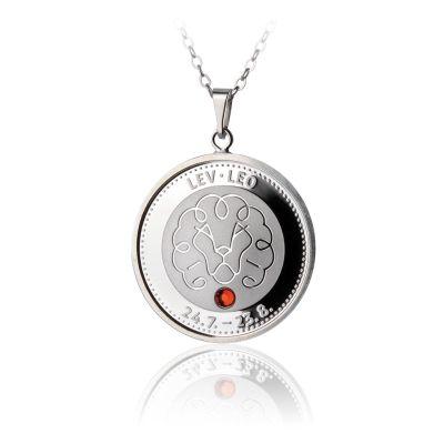 Stříbrný přívěsek znamení zvěrokruhu Lev proof | Česká mincovna