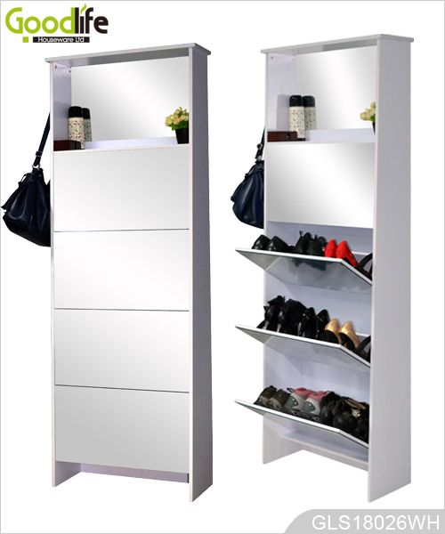 tall mirrored shoe cabinet