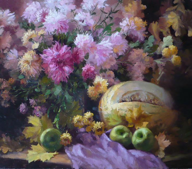 "Николаев Юрий,  ""Осенний натюрморт"", холст, масло, 60x70 см, 2016"
