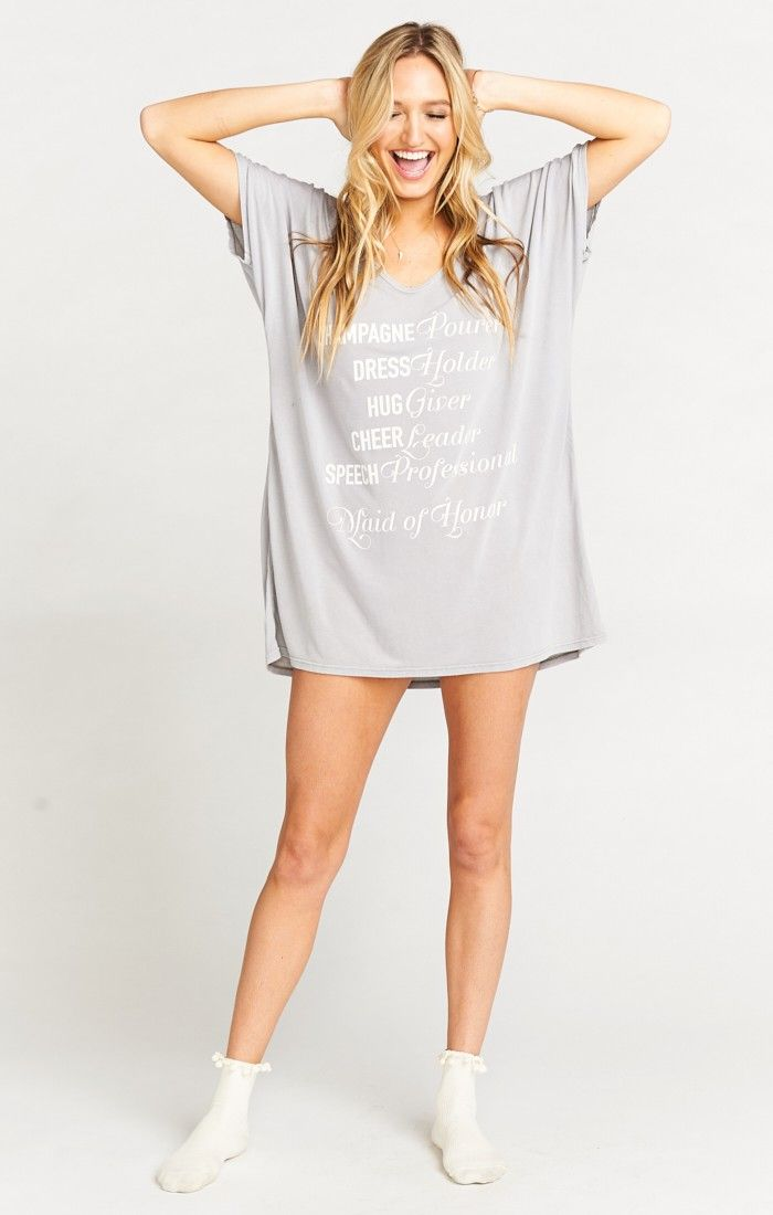 Benji Tunic Tee is the leader in comfort chic. Oversized and chill never looked so good. Have you Bri Lacey Shorts or Cut Offs peek out the bottom or for those nights that turn into mornings just ditch the pants completely. Wide mouth neckline shows off your collar bone so you don't feel like you're being swallowed in fabric, ya know?    *MADE IN THE GORGE USA* *100% Jersey *Basically Wrinkle-proof. Throw in purse for later recommended