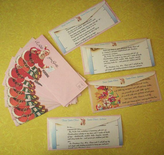 Vintage Santa Letter and Envelopes Letters From Santa Claus J.C. Penny ...