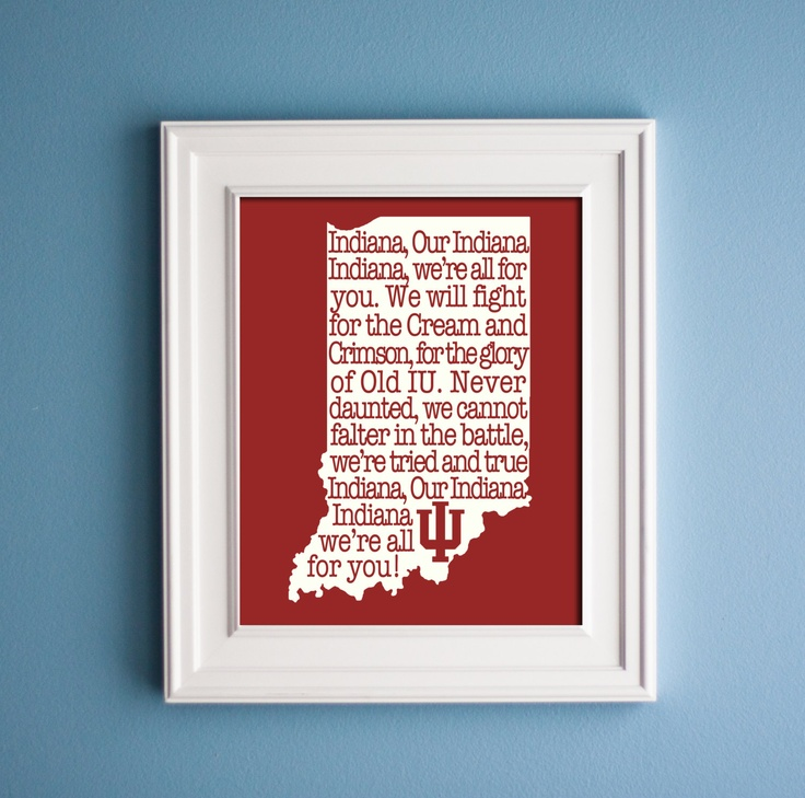 Indiana University - Hoosier State Print. $12.00, via Etsy.