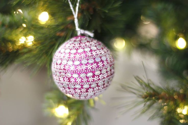 A wonderfully festive Christmas tree bauble decoration - purple of course - as inspired by our logo and colour scheme!
