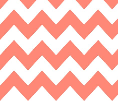 Coral Chevron fabric by newmom on Spoonflower - custom fabric