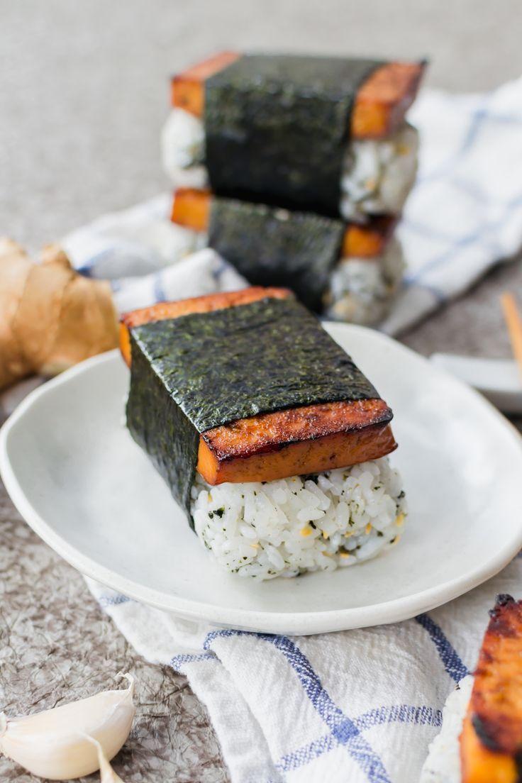 Teriyaki Tofu Musubi Food Teriyaki Tofu Vegan Sushi