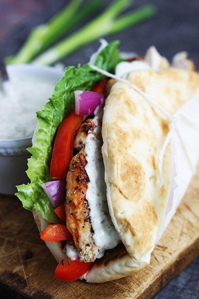 9. Easy Chicken Gyros With Tzatziki Sauce #mediterranean #dinner #recipes http://greatist.com/eat/dinner-recipes-healthy-mediterranean-recipes
