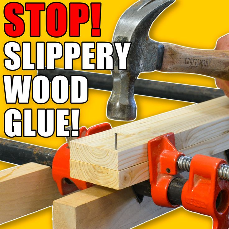 Stop Slippery Wood Glue Ups: 5 Quick Gluing Hacks! #woodworking #lifehacks