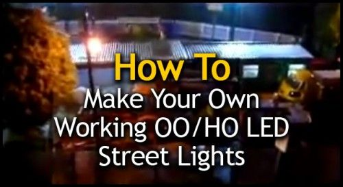 How to make your own working LED street lights for your model railway layout using cotton buds.