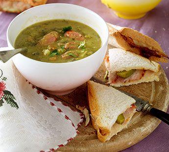 Erwtensoep met Zeeuws spek tosti's - Recept - Jumbo Supermarkten