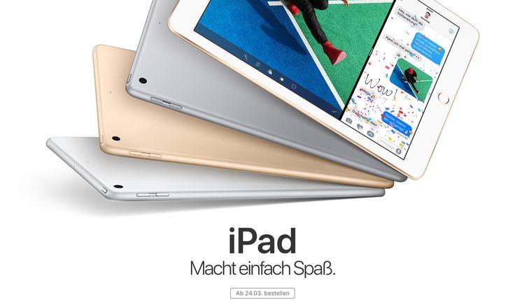 iPad 2017: Apple reduziert den iPad Preis! - https://apfeleimer.de/2017/03/ipad-2017-apple-reduziert-den-ipad-preis - Günstiger: neues Apple iPad 2017 nur 399 Euro! Neben der neuen iPhone 7 Special Edition in Rot löst Apple mit dem neuen iPad (2017) das iPad Air 2 ab. Bemerkenswert ist hierbei vor allem eines: der extrem günstige Preis des neuen iPad Modells. Schon ab 399 Euro ist die 32GB Variante des neuen...