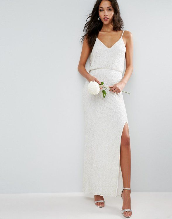 Asos Bridal 7 Dresses Maxi Dress Wedding Embellished Maxi Dress