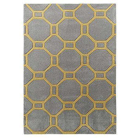 Hong Kong ottagonale & Rettangolo Tappeto 100% acrilico grande design geometrico Tappetino (varie misure e colori), Tessuto, Giallo, 150cm x 230cm: Amazon.it: Casa e cucina