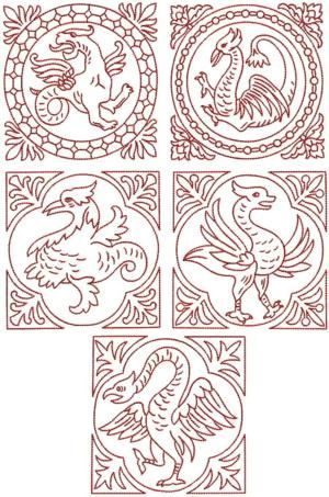Advanced Embroidery Designs - Griffin Block Set