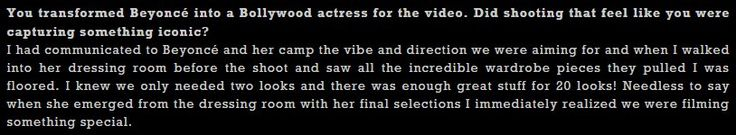 Indian Director Ben Mor on working with Beyoncé Hymn For The Weekend Music Video 29.01.2016