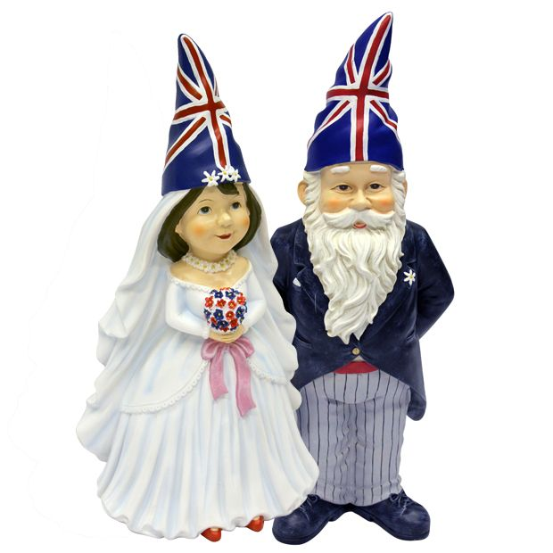 British wedding gnomes - this is for Jessica. Classy! ;)