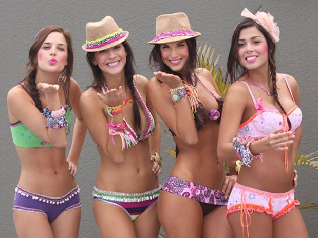 Colombian swim fashion.