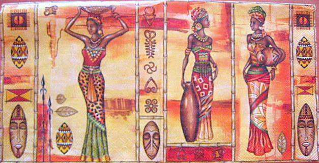 Afrikai nők [egzotikus] - szalvetashop.hu
