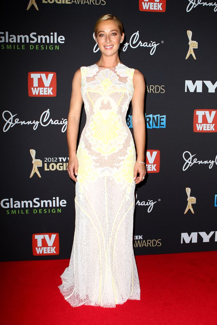Gold Logie Nominee Asher Keddie Wows in a Neon and Lace J'Aton Gown