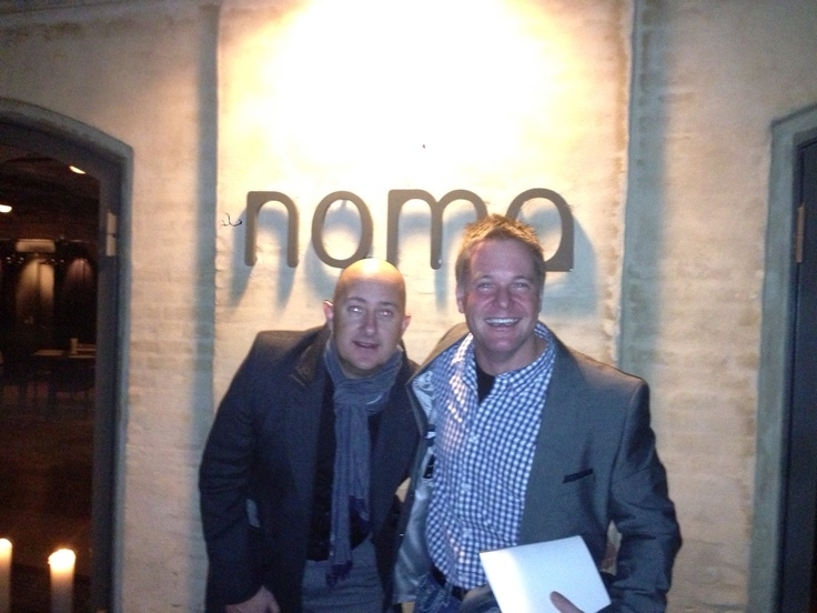 Steve 'Shillo ' and I at Noma restaurant Copenhagen