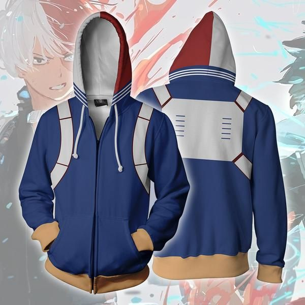 Shoto Todoroki Hoodie – Anime Craze | Anime hoodie, My hero