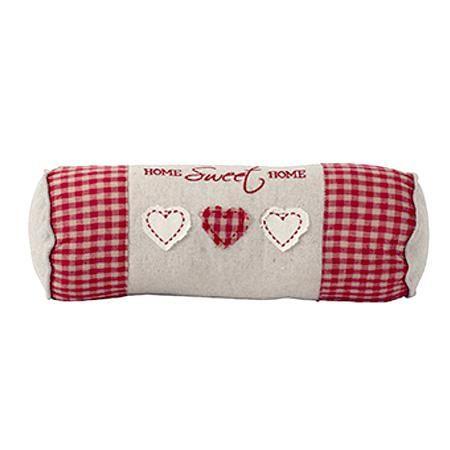 Malý polštářek v rustikálním stylu z řady dekorativních doplňků Sweet Home