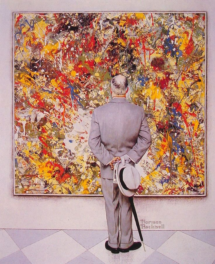 Norman Rockwell had quite the sense of humor - 1962 - The Connoiseur